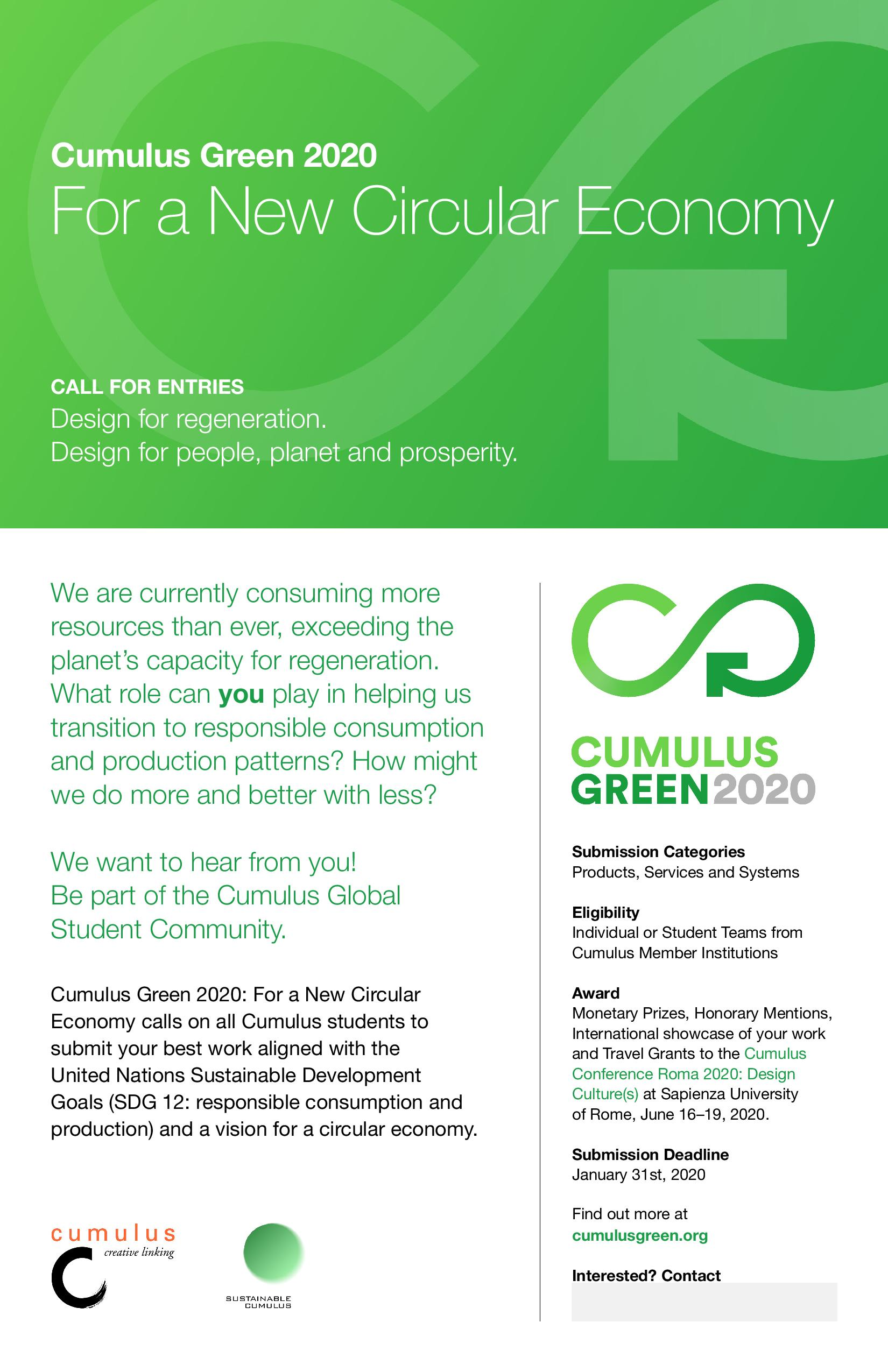 Cumulus Green 2020 poster Tabloid WEB contact box page 001